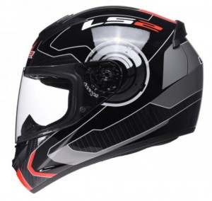 Kask LS2 FF352 ROOKIE ATMOS Black Red S
